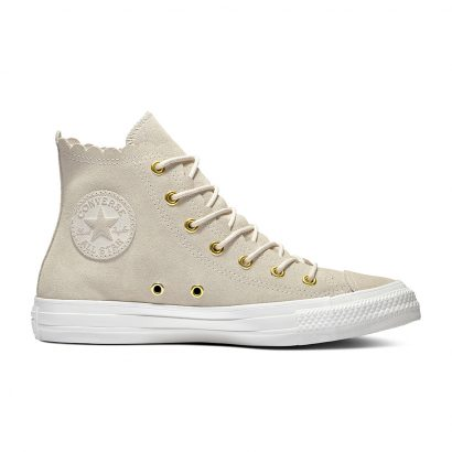 CHUCK TAYLOR ALL STAR FRILLY THRILLS – HI – NATURAL IVORY/GOLD/EGRET