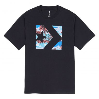 M StarChevron Camo FillBox Tee CONVERSE BLACK