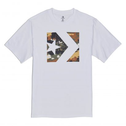 M StarChevron Camo FillBox Tee WHITE