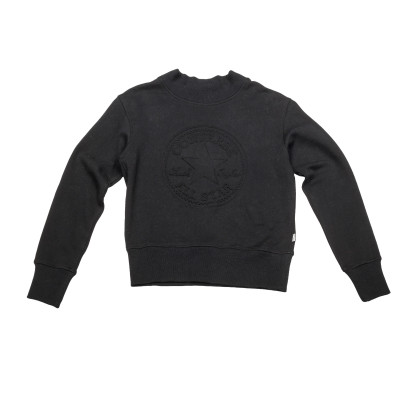Embossed Chuck Patch Mock Neck Sweatshirt