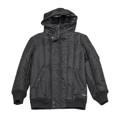Channel Quilted Long Ma-1 Jacket