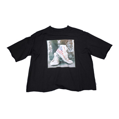 Sneaker Photo Mock Neck Tee