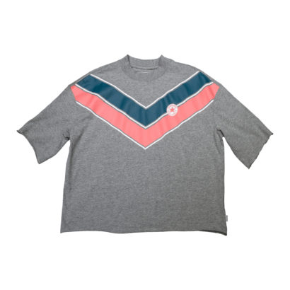 Chevron Mock Neck Tee
