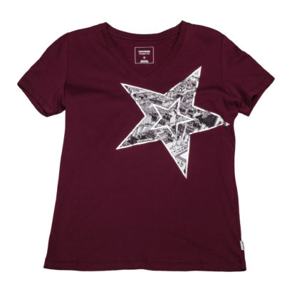 Metallic Star Photo fill Vneck Tee