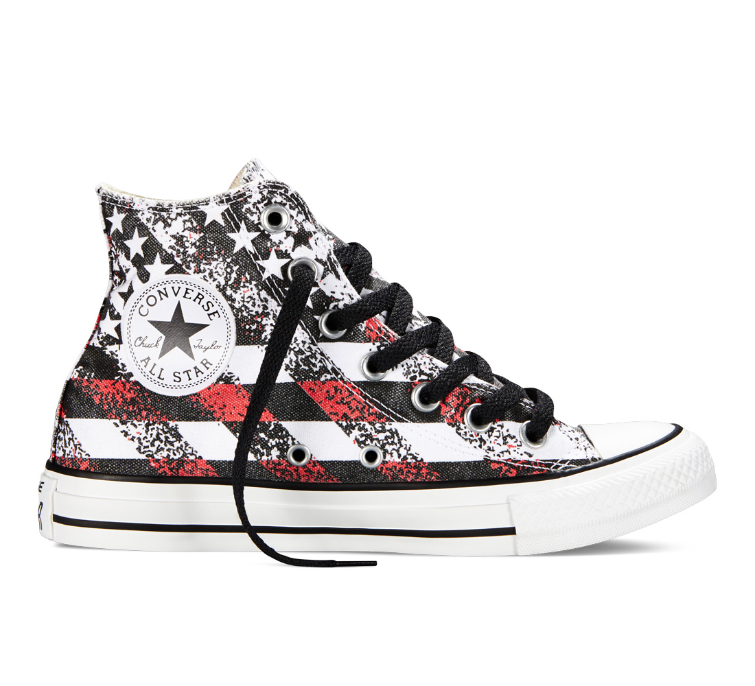 Chuck Taylor All Star Washed Flag Print