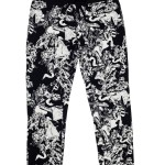 12167C-105, ALLOVER PRINTED SLIM PANTS
