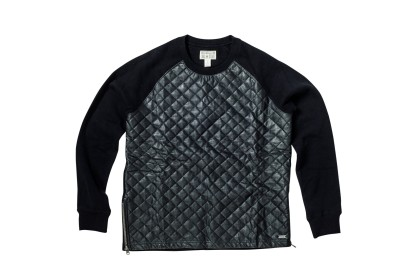 QUILTED ZIPPER CREW