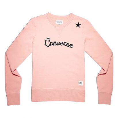 CONVERSE ESSENTIALS LEOPARD STAR CREW