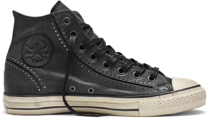 John Varvatos White Painted Seams Chuck Taylor All Star Split Seam Hi-Top