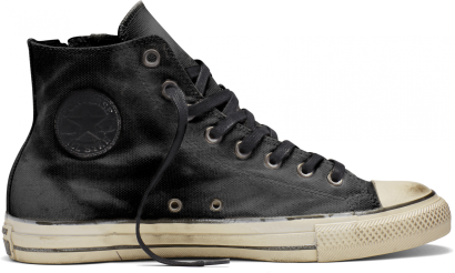 John Varvatos Heavyweight Canvas Chuck Taylor All Star Side Zip Hi-Top