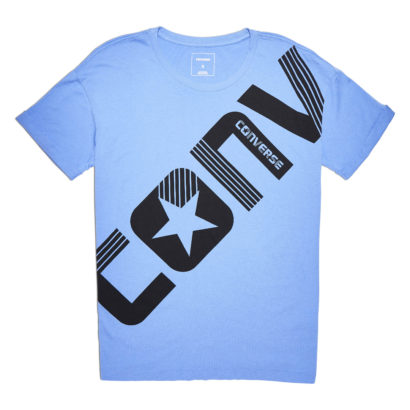 CROSS BODY WORDMARK EASY CREW TEE