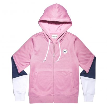 CONVERSE CORE BLOCKED FULL-ZIP HOODIE