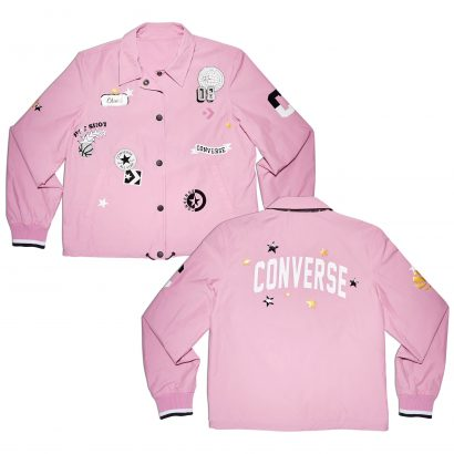 CONVERSE ALL OVER PATCHES COACHES JACKET
