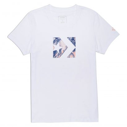 CONVERSE STAR CHEVRON FEATHER PRINT FILL CREW TEE