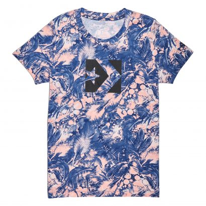 CONVERSE AOP FEATHER PRINT STAR CHEVRON CREW TEE