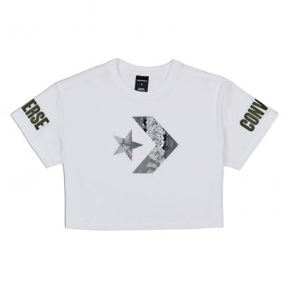 CONVERSE FLORAL FILL STAR CHEVRON MESH EASY CROP TEE