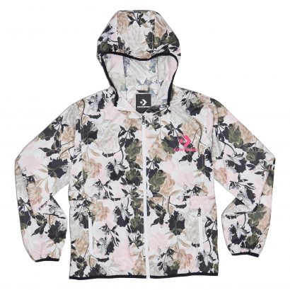 CONVERSE LINEAR FLORAL LIGHT WEIGHT WINDBREAKER