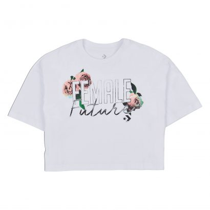 CONVERSE FEMALE FUTURE CROPPED BOXY TEE