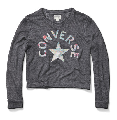 WASHED TRIBLEND CROP CREW SWEATSHIRT