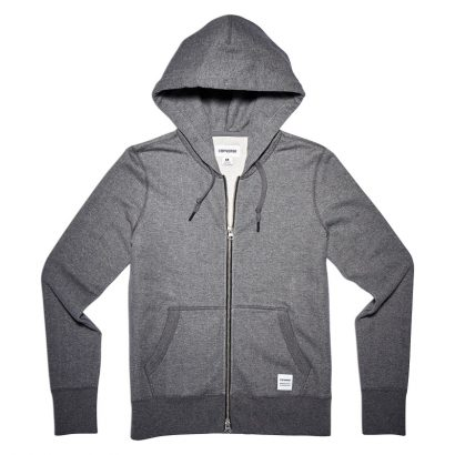 CONVERSE ESSENTIALS FULL-ZIP HOODIE – CHARCOAL MARL