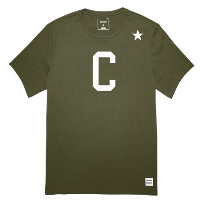 CONVERSE ESSENTIALS COLLEGIATE STAR TEE – MEDIUM OLIVE