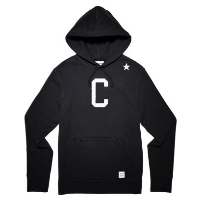 CONVERSE ESSENTIALS COLLEGIATE STAR PULLOVER HOODIE – BLACK