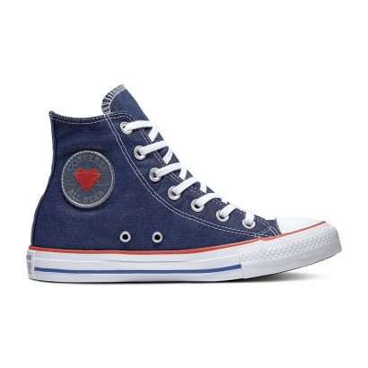 CHUCK TAYLOR ALL STAR DENIM LOVE – HI – INDIGO/ENAMEL RED/BLUE