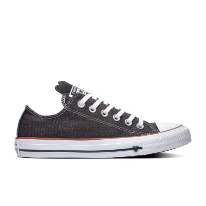 CHUCK TAYLOR ALL STAR DENIM LOVE – OX – BLACK/WHITE/GARNET