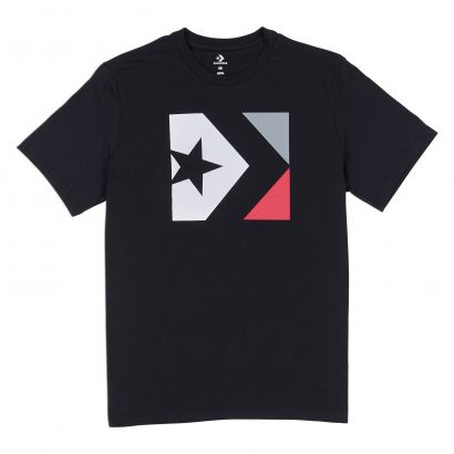 Converse Star Chevron Box Tee – BLACK