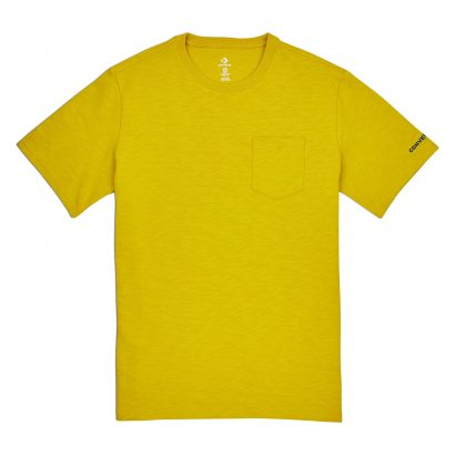 Converse Embroidered Wordmark Tee – BOLD CITRON