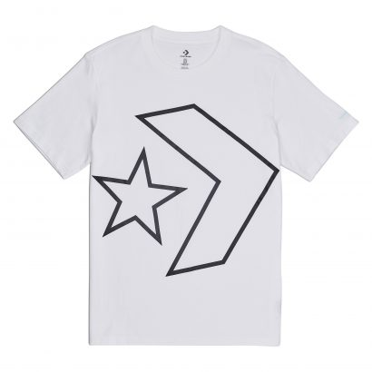 Converse Tilted Star Chevron Tee – WHITE