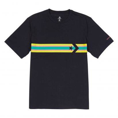 M Star Chevron Stripe Tee CONVERSE BLACK