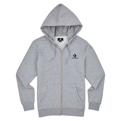 STAR CHEVRON EMB FZ HOODIE VINTAGE GREY HEATHER