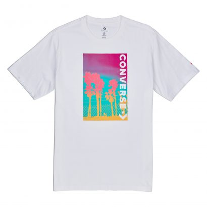 M Palm Tree Photo Tee WHITE