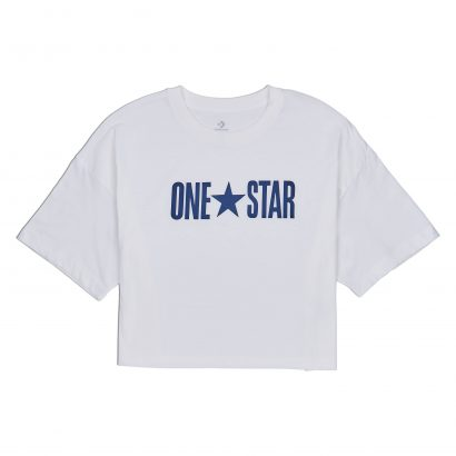 W One Star Printable Boxy Tee WHITE