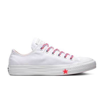 Chuck Taylor All Star WHITE/RACER PINK/GNARLY BLUE