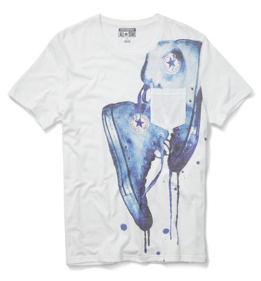 BLUE CHUCKS PKT TEE