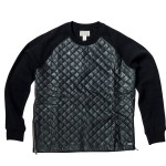12210C-003, QUILTED ZIPPER CREW