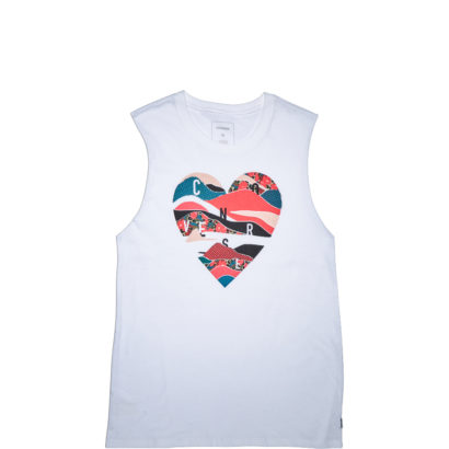 Mesh Layered Heart Muscle Tee