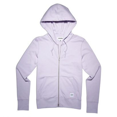 CONVERSE ESSENTIALS FULL-ZIP HOODIE – BARELY FUCHSIA