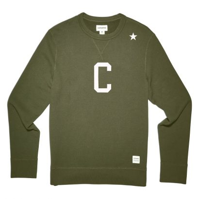 CONVERSE ESSENTIALS COLLEGIATE STAR CREW – MEDIUM OLIVE