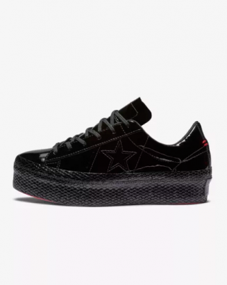 Converse One Star Platform Patent '90s Leather Low Top