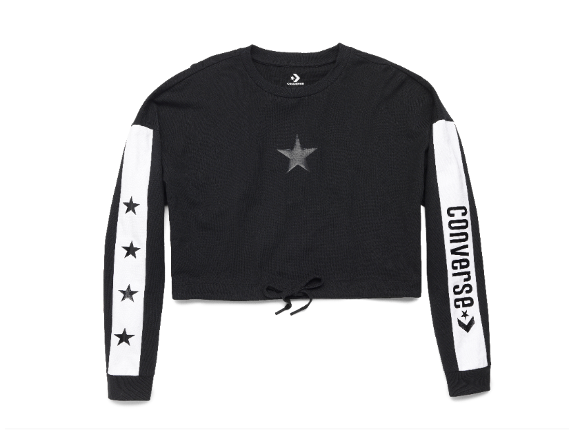 Converse x Miley Cyrus Women's Long-Sleeve Crop T-Shirt