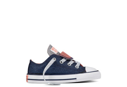 Infant Chuck Taylor All Star Double Tongue Shine Shimmer Navy