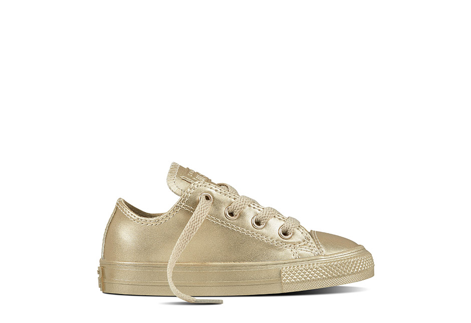 Infant Chuck Taylor All Star Metallic Leather Gold