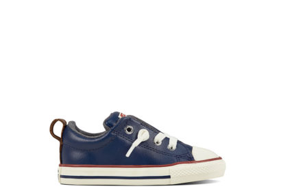 Infant Chuck Taylor All Star Street Leather Shearling Navy