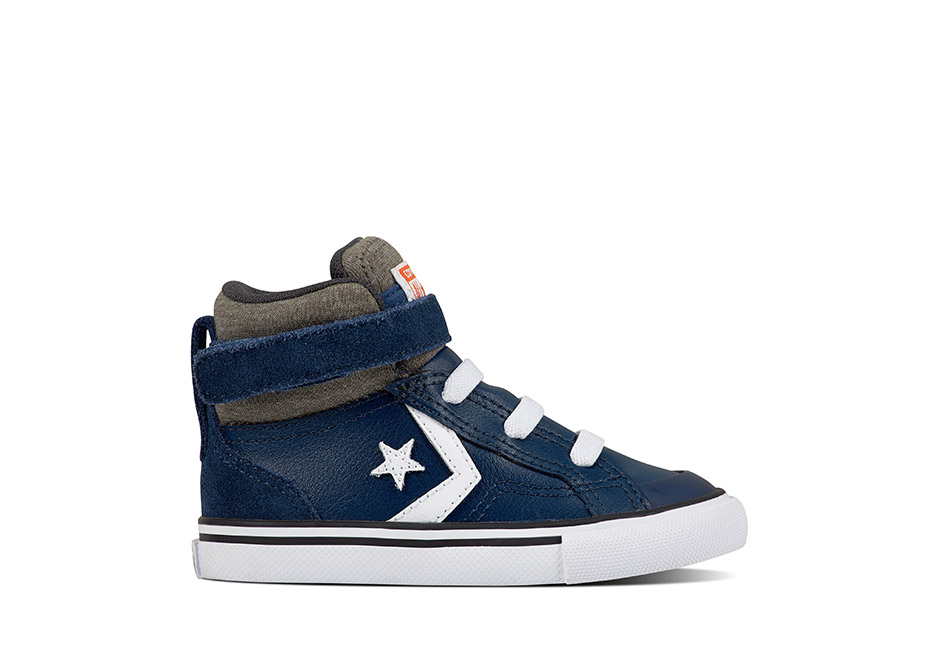 Infant Pro Blaze Strap Stretch Leather and Suede Navy