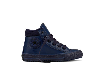 Junior CTAS Converse Boot PC Leather Speckle Midnight Navy