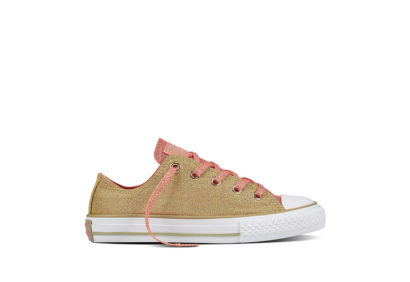 Junior Chuck Taylor All Star Shine Shimmer Pale Gold