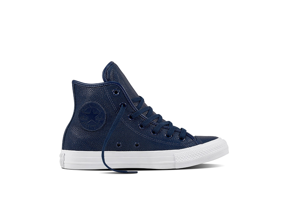 Unisex Chuck Taylor All Star Pebbled Leather Midnight Navy